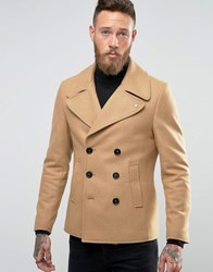 Noose And Monkey Peacoat Camel Tan