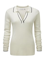 Henri Lloyd Cora Ls Polo Knit Cream