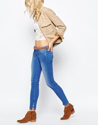 Pepe Jeans Cher Ankle Zip Low Rise Jean Blue