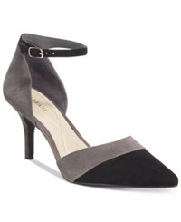 Alfani Women's Jorrdyn Pointed Toe D'orsay Pumps Only At Macy's Women's Shoes Steel Black