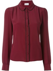 Red Valentino Button Front Shirt Pink And Purple