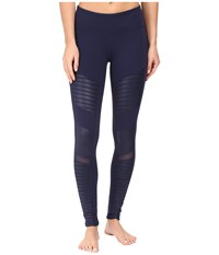 Alo Yoga Moto Leggings Rich Navy Rich Navy Glossy Women's Casual Pants