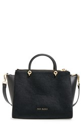 Ted Baker London Large Genuine Calf Hair And Leather Tote Black