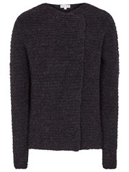 Reiss Dakota Waterfall Knit Cardigan Night Navy