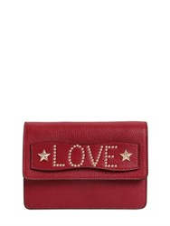 Red Valentino Love Letter Studs Grained Leather Bag