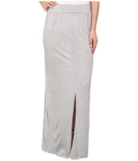 Lna Gauze Column Skirt Heather Grey Women's Skirt Gray