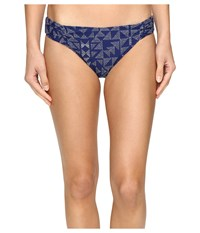 Splendid Deckhouse Geo Retro Pants Indigo Women's Swimwear Blue