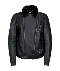 Billionaire Leather Sheepskin Biker Jacket Black