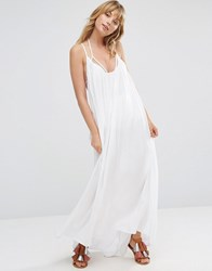 Vince Camuto Maxi Swing Beach Dress White