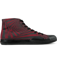 Vision Street Wear Red Black Canvas Hi Shoes