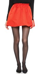 Mcq By Alexander Mcqueen Crinkled Skirt Red