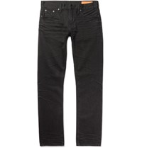 Jean Shop Jim Skinny Fit Selvedge Denim Jeans Black