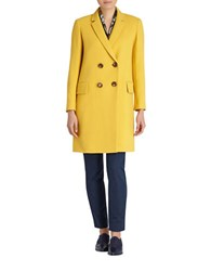 Lafayette 148 New York Culture Crepe Gianna Coat Mustard