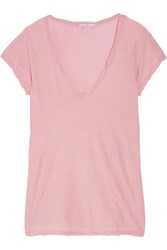 James Perse High Gauge Cotton Jersey T Shirt Baby Pink