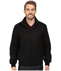 Calvin Klein Wool Bomber Jacket Black Men's Coat