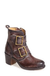 Women's Frye 'Sabrina' Double Buckle Bootie Walnut