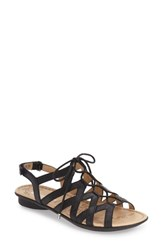 Women's Naturalizer 'Whimsy' Ghillie Sandal Black Leather