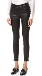 L'agence Aurelie Leather Leggings Noir