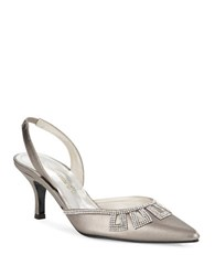 Caparros Valuable Pointed Toe Heels Pewter