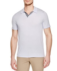 Vince Wool Silk Slim Fit Polo Shirt Lucent Blue