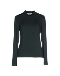 Clips More Topwear T Shirts Women Dark Green