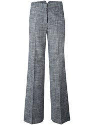 Tonello Plaid Wide Legged Tailored Trousers Grey