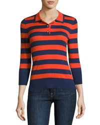Frame Rugby Stripe Polo Sweater Multicolor Pattern Multi Pattern