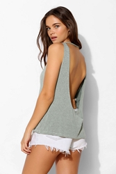 Truly Madly Deeply Drape Back Tank Top Green