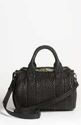 Alexander Wang 'Rockie Antique Brass' Leather Crossbody Satchel Black Antique Brass
