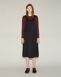 Comme Des Garcons Wool Gabardine Overall Dress Black