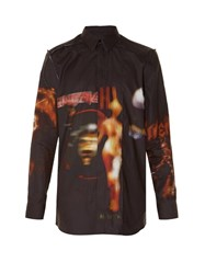 Givenchy Heavy Metal Print Distressed Shirt Black Multi