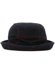 Paul Smith Ps By Stitch Detail Hat Blue