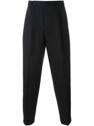 Paul Smith Front Pleat Trousers Black