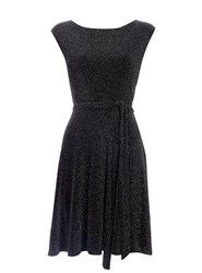 Wallis Black Sparkle Fit And Flare Dress