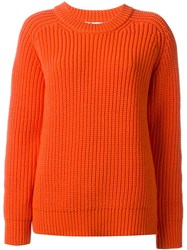 T By Alexander Wang Knit Sweater Yellow And Orange