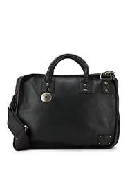 Will Leather Goods Hank Leather Satchel Black