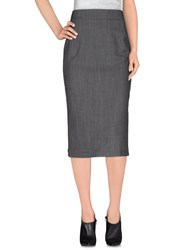 Dandg Skirts 3 4 Length Skirts Women Steel Grey