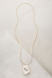 Anthropologie Percival Geode Necklace Gold