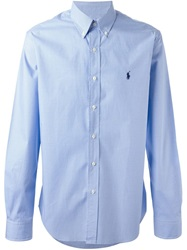 Polo Ralph Lauren Button Down Check Shirt Blue