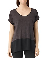 Allsaints Amie Color Block Tee Washed Black