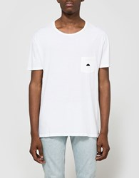 Quality Peoples Sun Logo Pocket T Shirt White