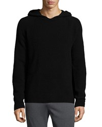 Atm Anthony Thomas Melillo Cozy Hooded Long Sleeve Pullover Sweatshirt Black