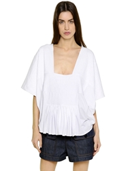 Chloe Quilted Cotton Jersey T Shirt White