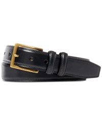 Polo Ralph Lauren Men's Vachetta Square Buckle Belt Black