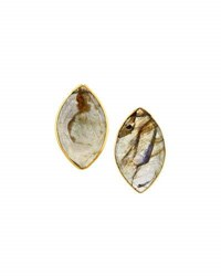 Nakamol Marquise Labradorite Stud Earrings Gray