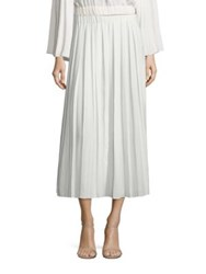 Elizabeth And James Quinn Pleated Midi Skirt Ivory Black