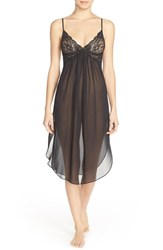 Women's In Bloom By Jonquil 'Jennifer' Midi Length Chemise Black
