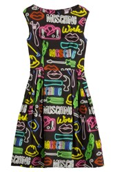 Moschino Printed Sheath Dress Multicolor