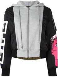 Moschino Panelled Bomber Jacket Multicolour