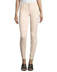 Minnie Rose Skinny Stretch Twill Ankle Pants Sand Brown